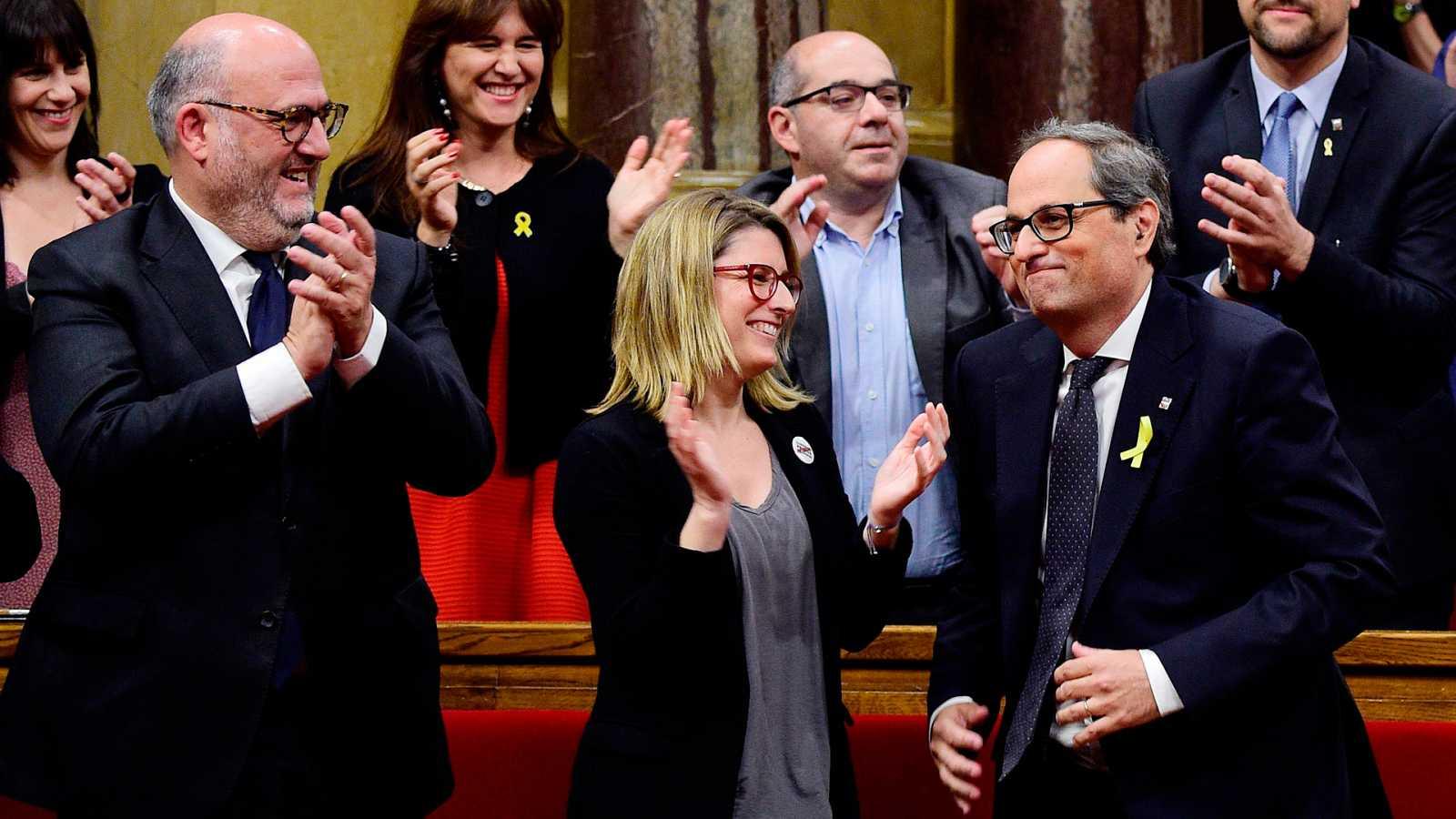 """Torra es investido presidente de la Generalitat y se dirige a Puigdemont: """"Le vamos a investir"""""""