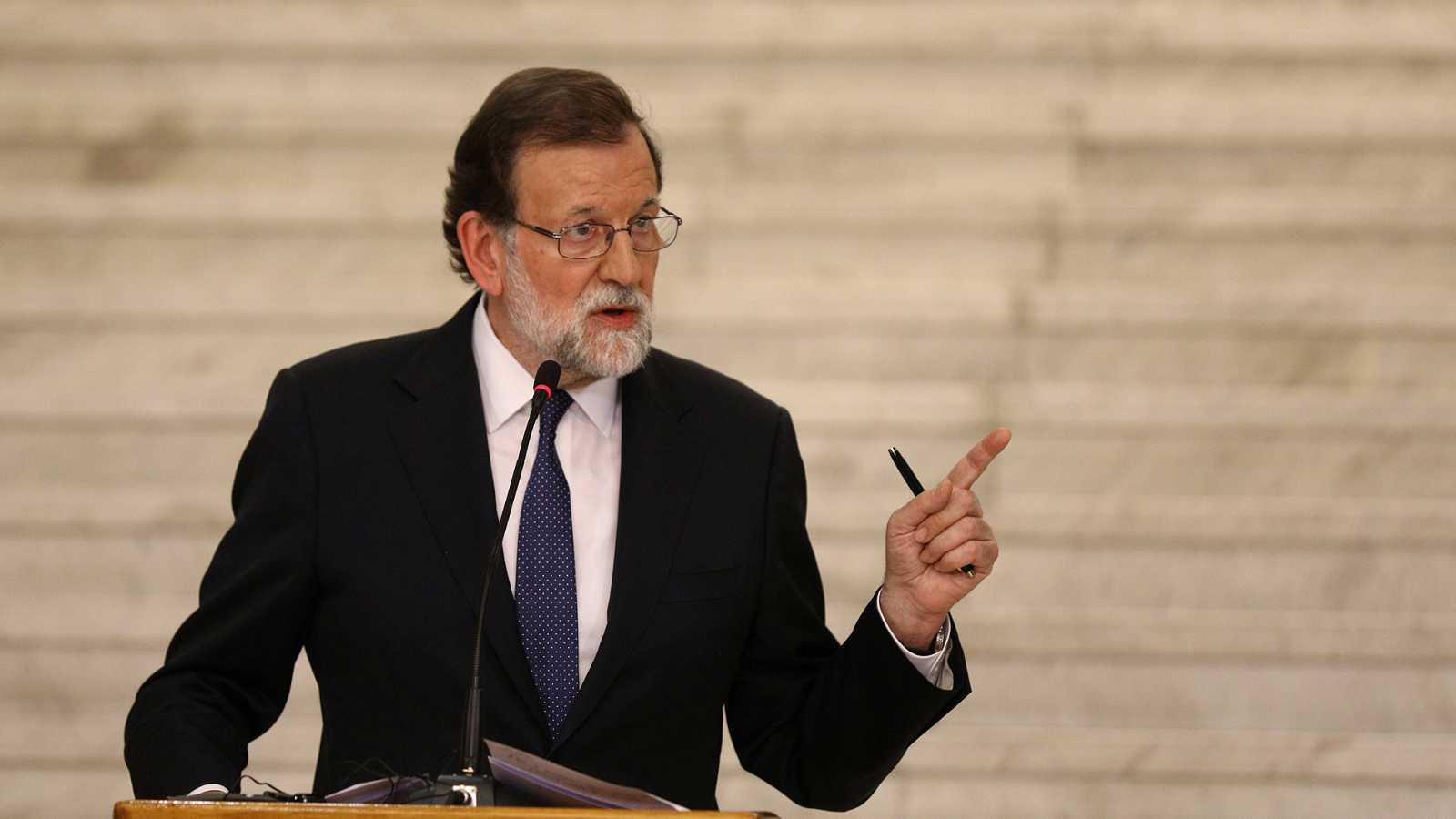 """Rajoy advierte a Torra que """"solo puede haber un presidente, una legalidad"""""""