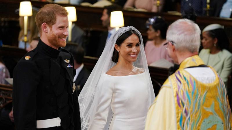 La ceremonia de la boda del príncipe Enrique y Meghan Markle