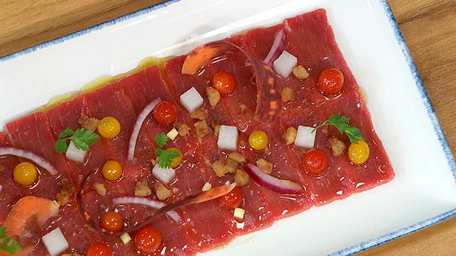 Torres en la cocina - Carpaccio de atún