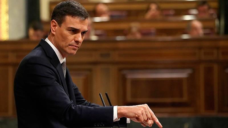 """Sánchez, a Rajoy: """"Dimita y esta moción de censura habrá terminado aquí y ahora"""""""