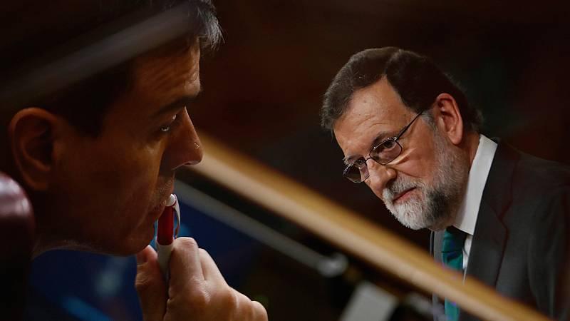 """Rajoy acusa a Sánchez de """"mentir"""" con la sentencia de Gürtel y """"chantajear"""" al Congreso"""