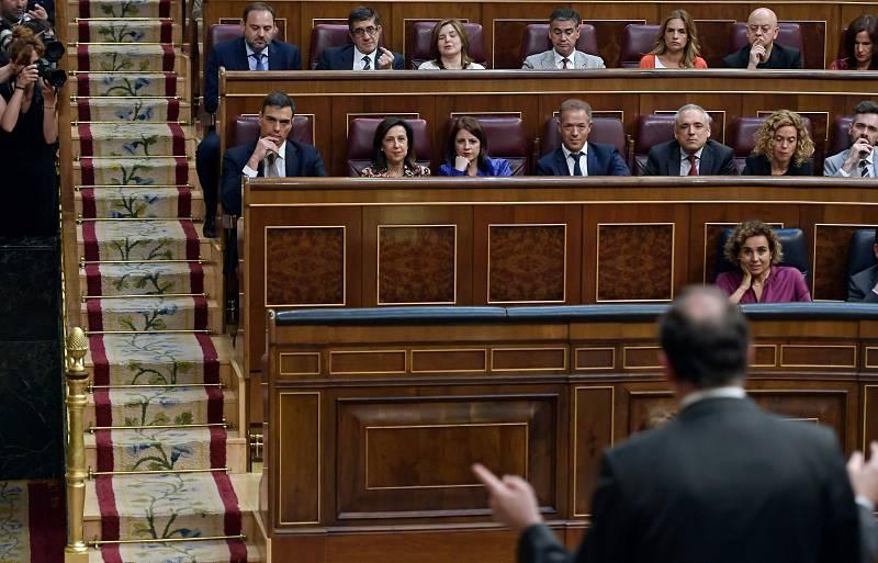Los rifirrafes entre Rajoy y Sánchez en el debate de la moción de censura
