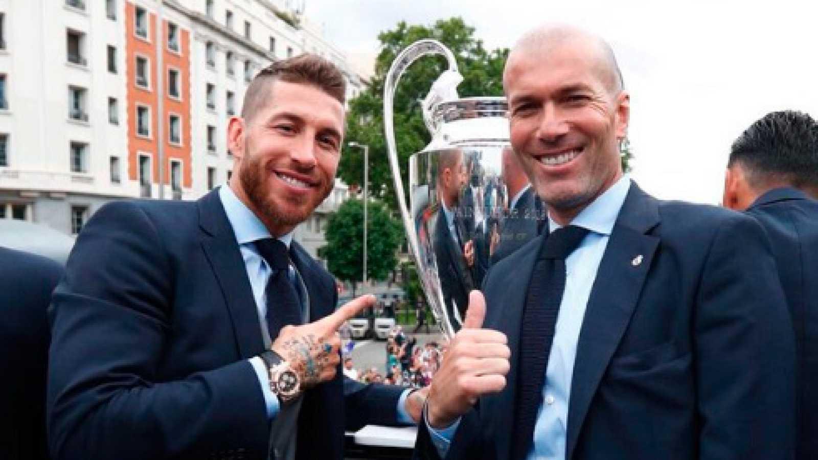 Los jugadores del Madrid, orgullosos de haber sido entrenados por Zidane