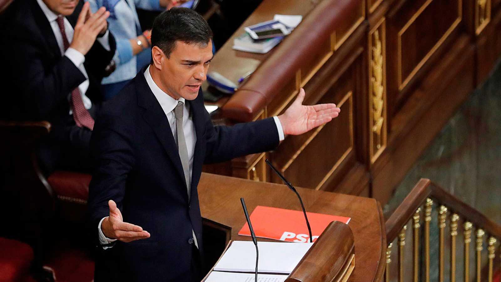 Sánchez será presidente gracias al apoyo de Podemos y los nacionalistas