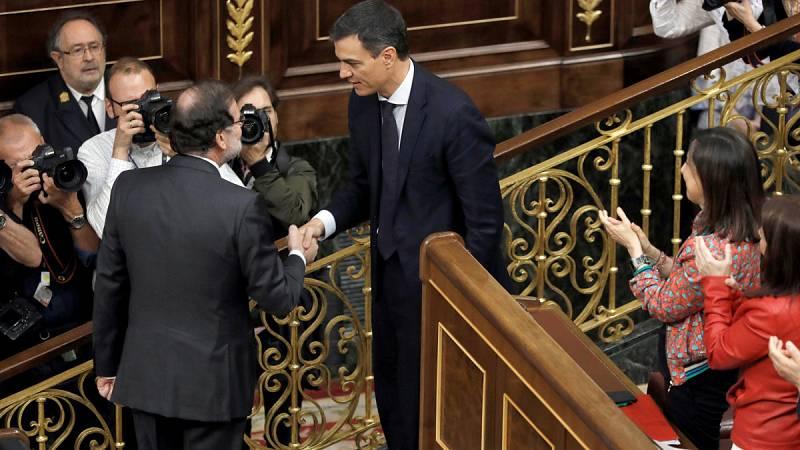 Prospera la moción contra Rajoy en el Congreso y Pedro Sánchez es investido presidente