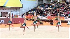 Gimnasia rítmica - Campeonato de Europa Clasificación Conjuntos Senior Ejercicio 5 Aros en Guadalajara