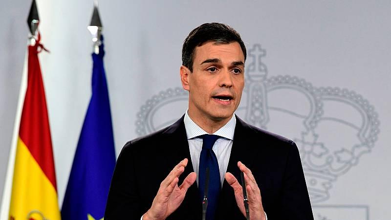 """Sánchez afirma que su Gobierno buscará la """"modernización"""" de España, su crecimiento """"sostenible"""" y """"regenerar la vida pública"""""""