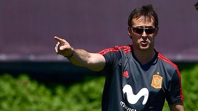 Lopetegui continúa con los entrenamientos tras hacerse oficial su fichaje por el Madrid