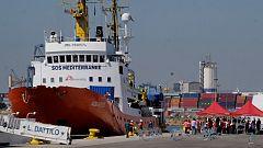 Avance informativo - Entrada del Aquarius al puerto de Valencia