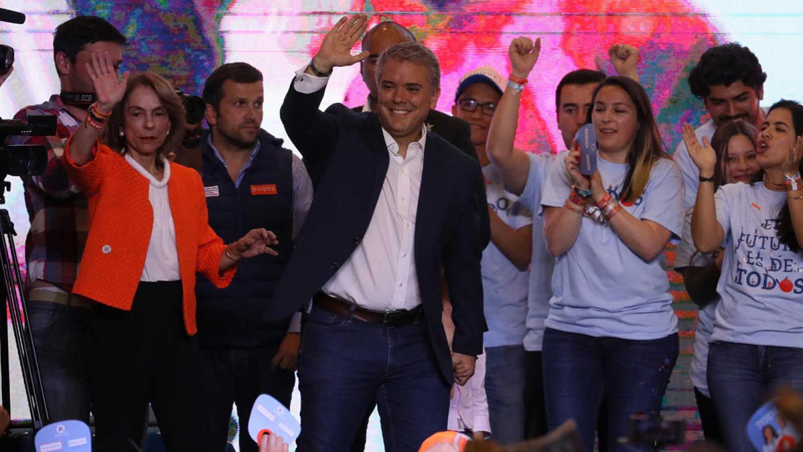 El derechista Iván Duque gana las elecciones presidenciales en Colombia
