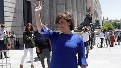 Sáenz de Santamaría anuncia que optará al liderazgo en el PP