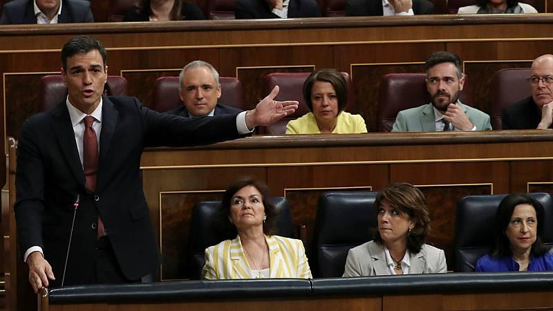 Sánchez pide lealtad al PP en su primera sesión de control como presidente del Gobierno