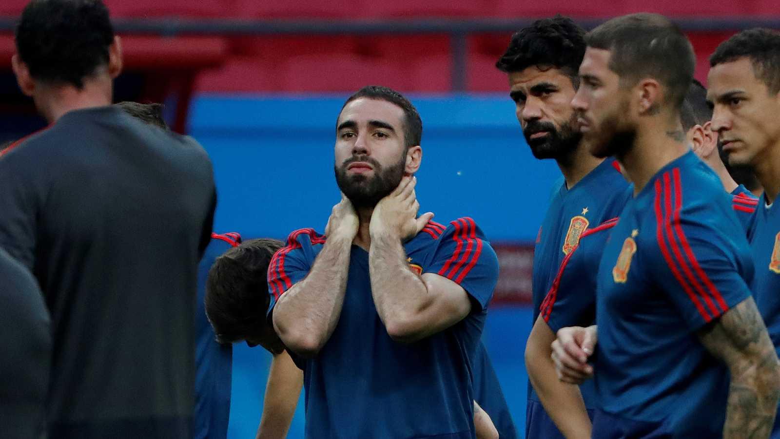 La selección española se la juega contra Irán en su segundo partido del Mundial, donde podría regresar Carvajal tras su lesión y podría entrar Lucas en el once titular.