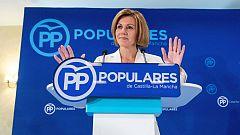 """Cospedal cree que el PP necesita """"alguien que dé la cara"""" y no """"personas que se esconden"""""""