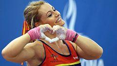 Lydia Valentín logra el oro en arrancada
