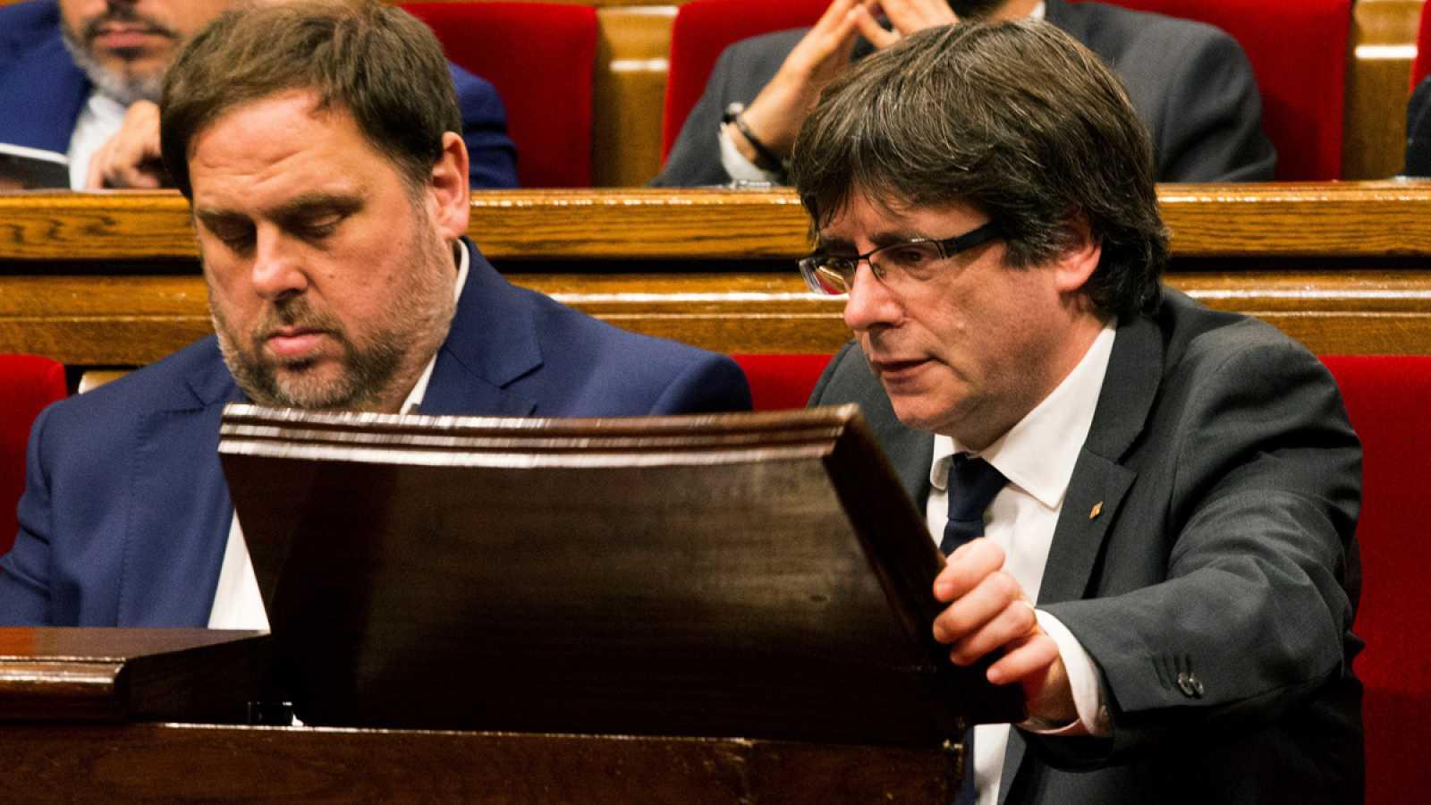 El Tribunal Supremo confirma el procesamiento por rebelión de Puigdemont y Junqueras
