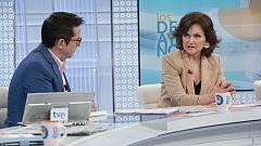 Los desayunos de TVE - Carmen Calvo, vicepresidenta del Gobierno y ministra de la Presidencia, Relaciones con las Cortes e Igualdad