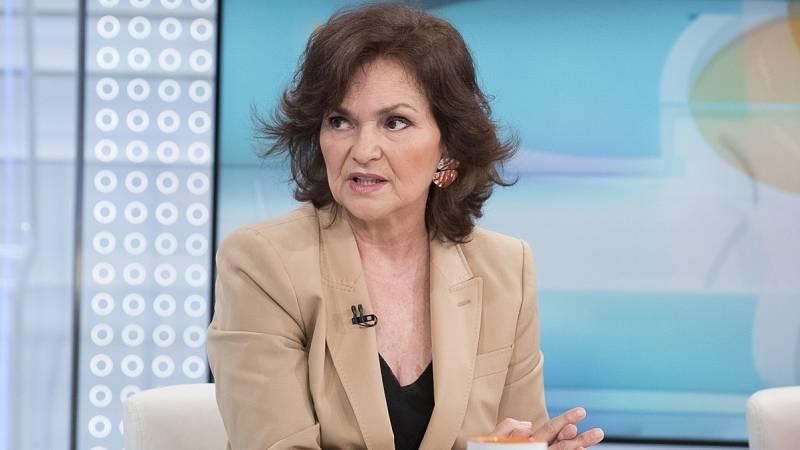 Entrevista a Carmen Calvo en Los Desayunos de TVE