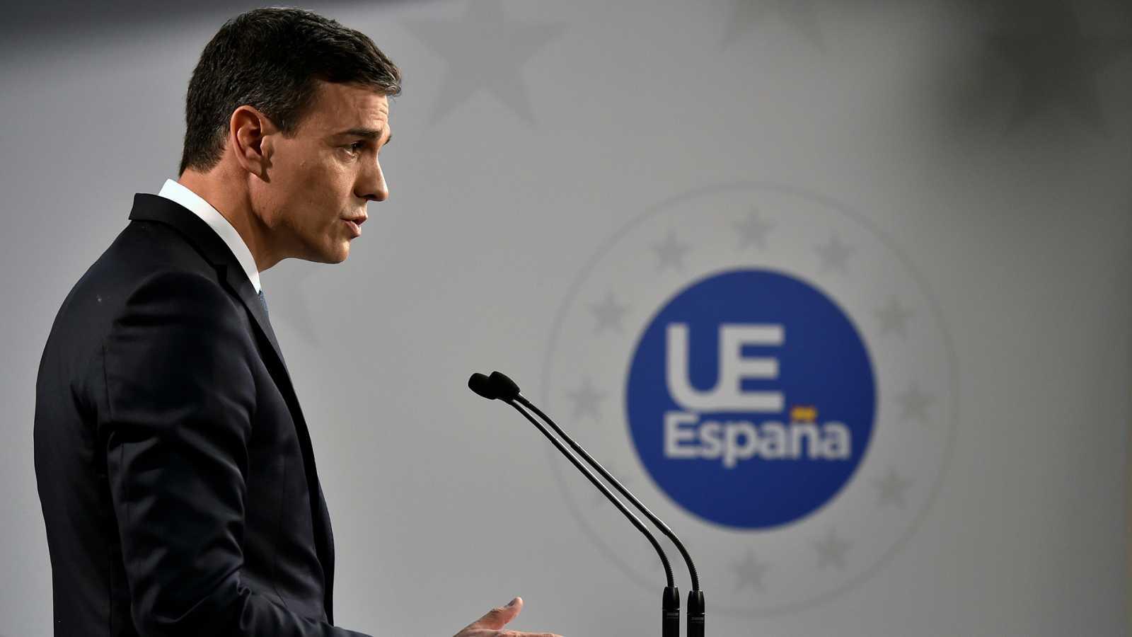 """Sánchez: """"Alemania se ha comprometido a prestar apoyo financiero y material a España como frontera exterior de la UE"""""""