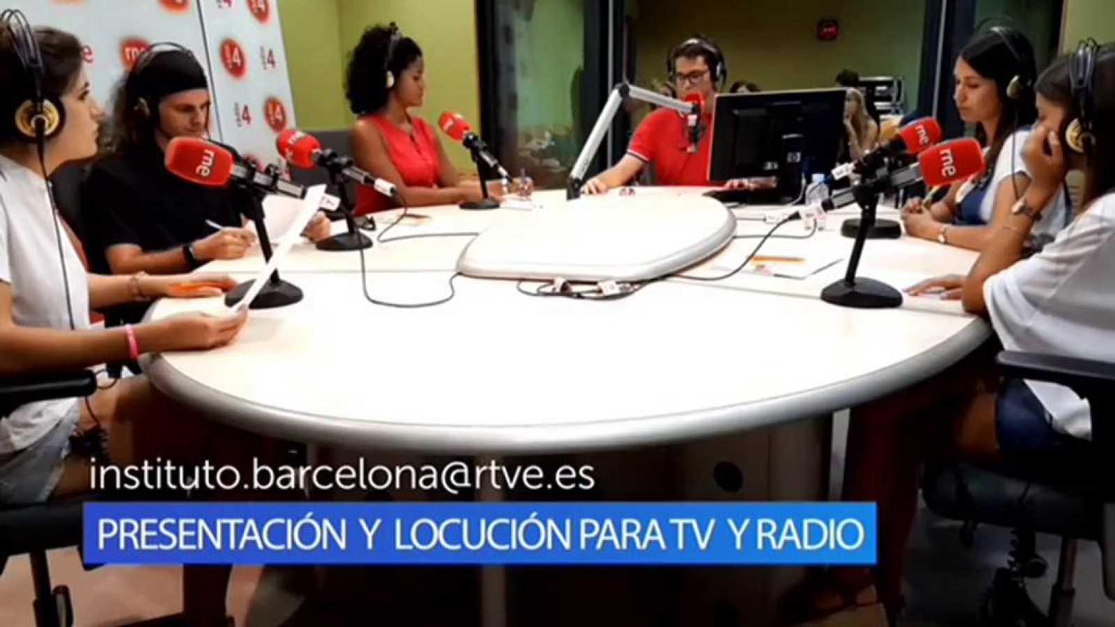 Curso de locución y presentación de TV y radio en el IRTVE, este mes de julio