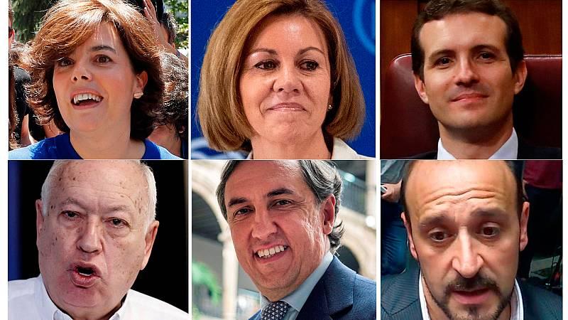 Últimas horas de campaña de los seis candidatos a presidir el PP