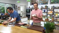 Torres en la cocina - Conejo barrado y panacota de chirimoya