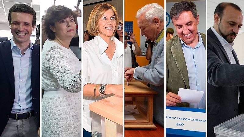 Más de 66.000 militantes del PP eligen en primarias a los dos candidatos que se disputarán el liderazgo del partido en el Congreso