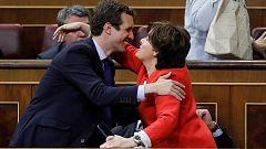 Sáenz de Santamaría gana la primera vuelta de las primarias del PP y pasa el corte con Casado
