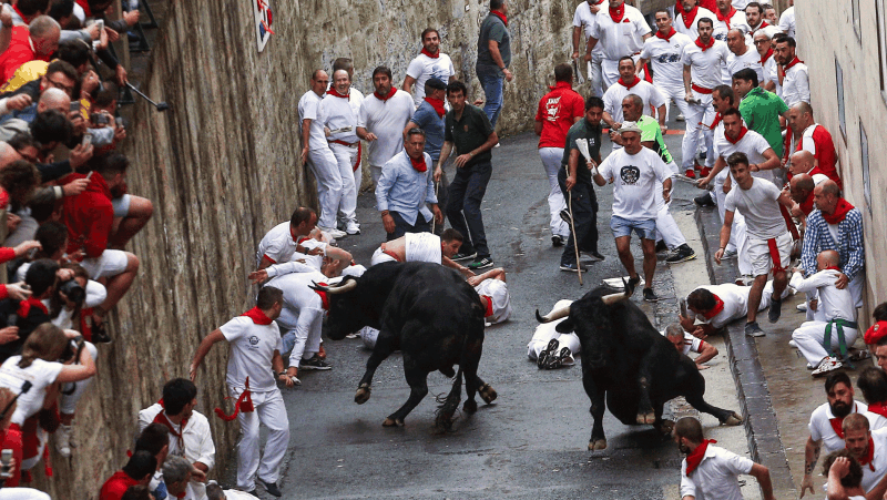 Primer encierro de San Fermín 2018: rápido y con dos toros descolgados