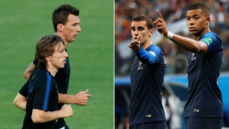 Croacia y Francia, preparadas y con ganas de disputar la final de Rusia