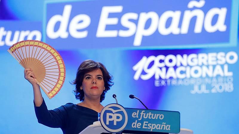 Sáenz de Santamaría ganó el voto de los afiliados pero los compromisarios le dan la victoria a Casado