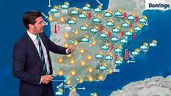 Lluvias intensas en el cuadrante noreste y mucho calor en el sur peninsular