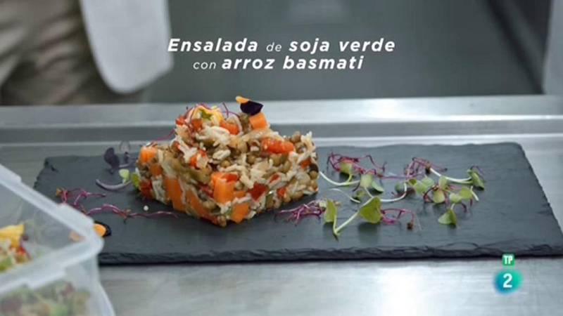 La ciencia de la salud - Receta para la salud laboral - Ensalada de soja verde con arroz basmati