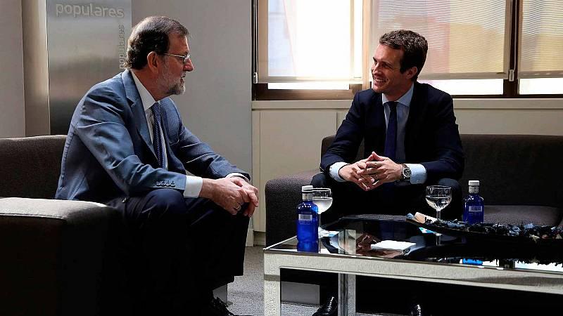 Casado inicia su agenda como líder del PP reuniréndose con Rajoy