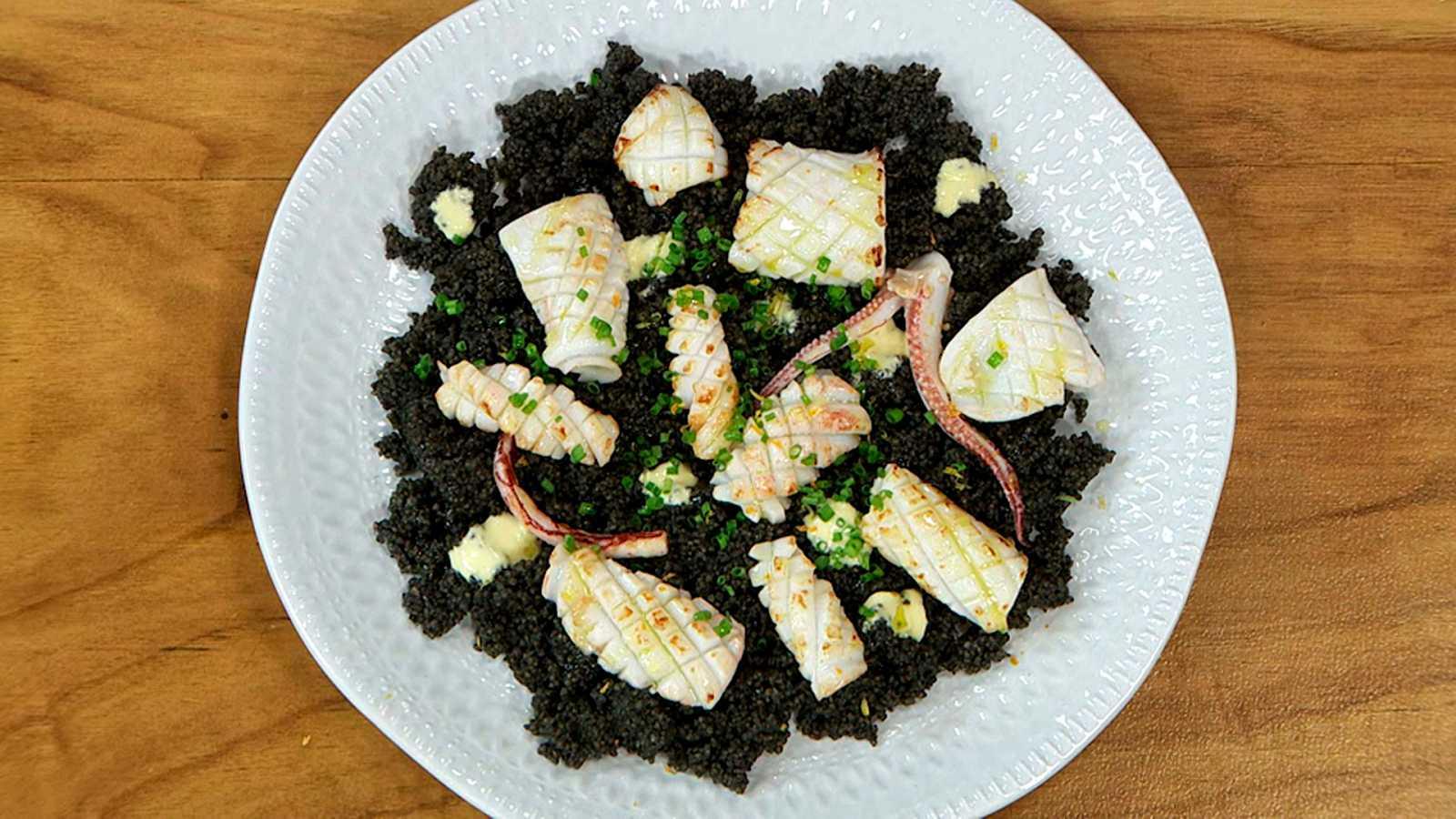 Torres en la cocina - Cuscús negro de calamar