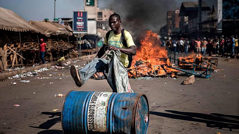 Los resultados de las elecciones de Zimbabue desencadenan las protestas de la oposición
