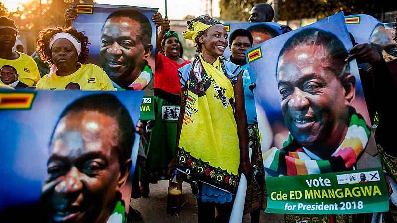 Emmerson Mnangagwa gana las elecciones presidenciales de Zimbabue