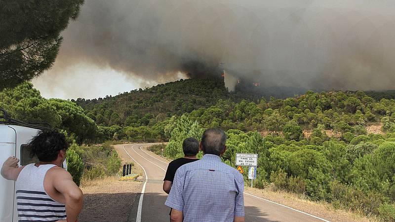 Estabilizado el incendio de Nerva tras más de 27 horas de trabajo
