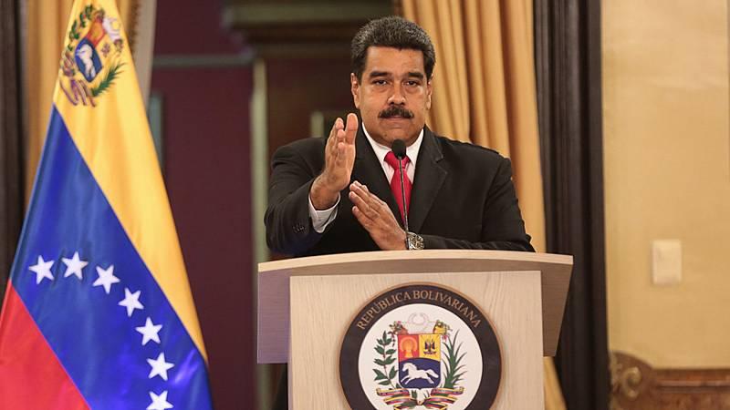 Maduro acusa al presidente colombiano saliente, Juan Manuel Santos, de estar detrás del atentado