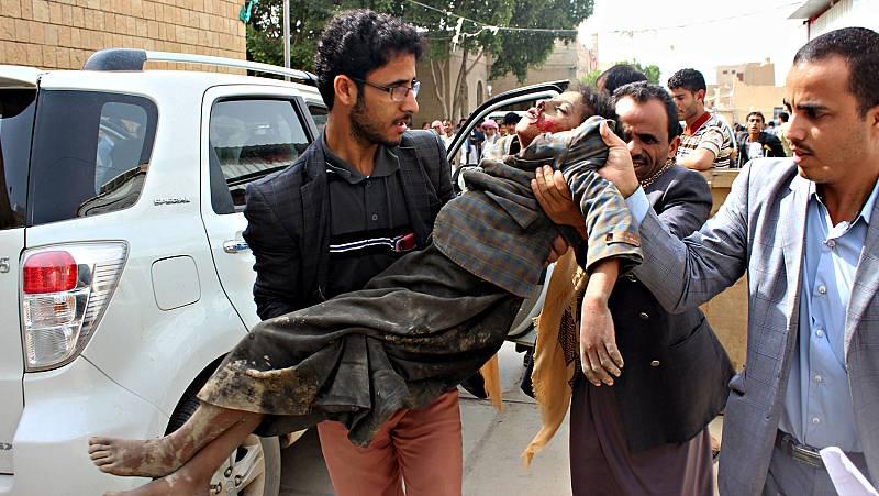 Masacre en Yemen contra un autobús repleto de niños