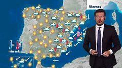 Subida de temperaturas en el oeste y tormentas fuertes en el tercio oriental