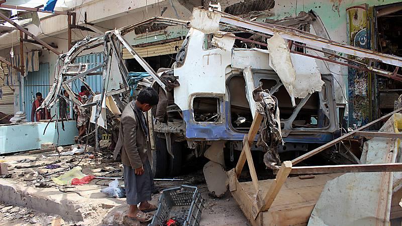 La muerte de decenas de niños en un bombardeo pone el foco sobre la guerra de Yemen