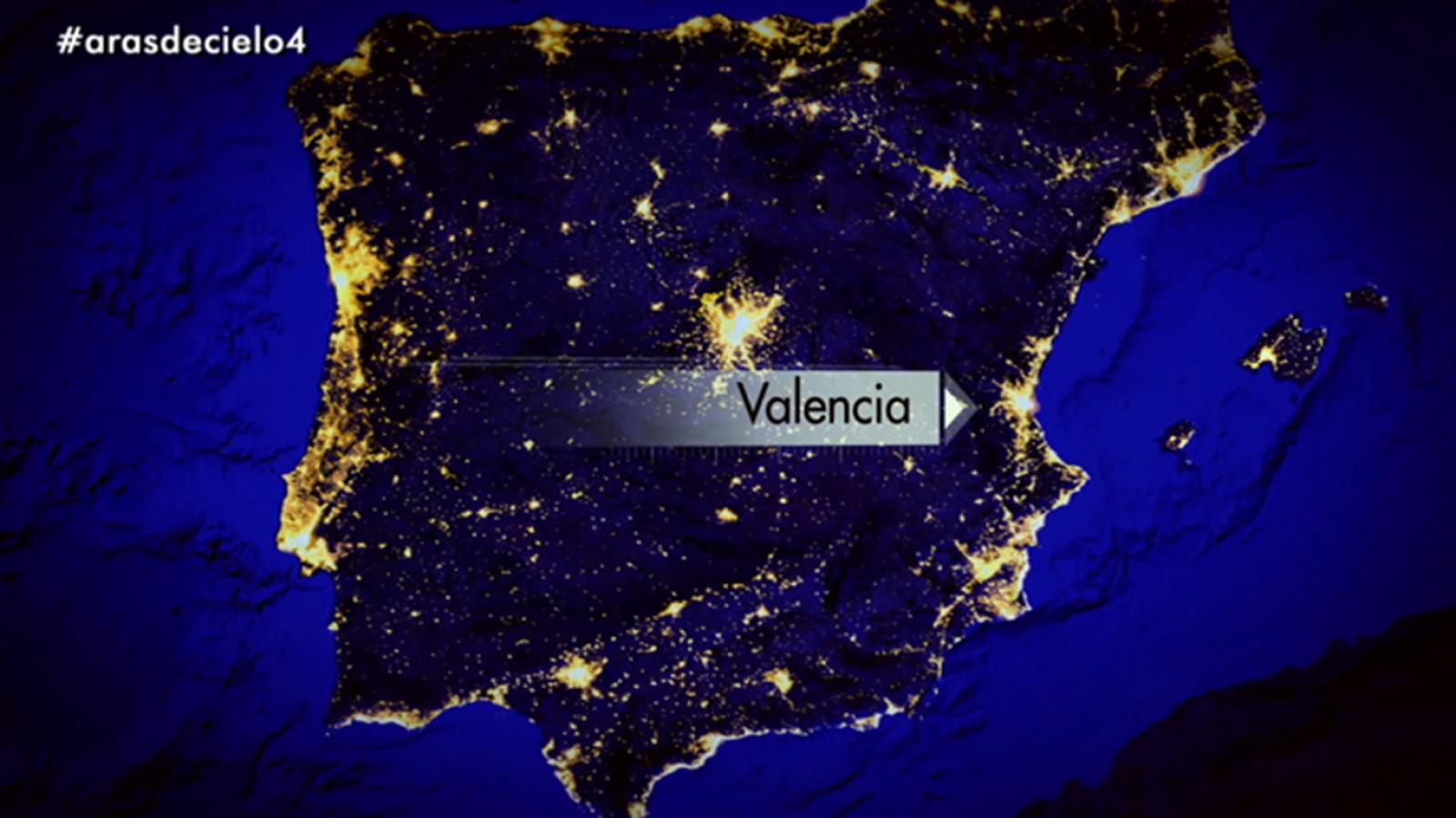 España a ras de cielo - España de noche - ver ahora
