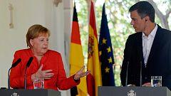 Sanchez y Merkel defienden un sistema justo de reparto de inmigrantes en la Unión Europea
