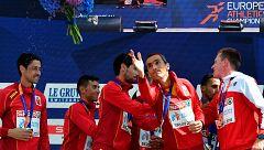European Championships. España, plata en maratón masculina por equipos