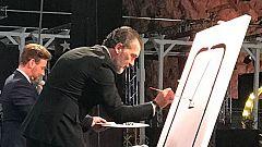 Corazón - Antonio Banderas recaudó 20.000 euros con el cuadro picassiano que improvisó sobre el escenario