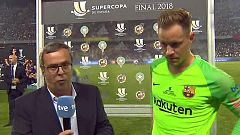 "Supercopa de España. Ter Stegen: ""Creo que es penalti"""
