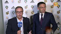 """Supercopa de España. Bartomeu: """"Un título da alegría y ganas de seguir compitiendo"""""""