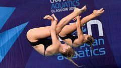 European Sports Championships 2018 - Natación Saltos Final 3M Sincro Femenino
